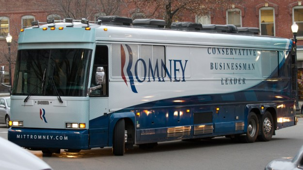 Romney Campaign Bus Likely Sabotaged