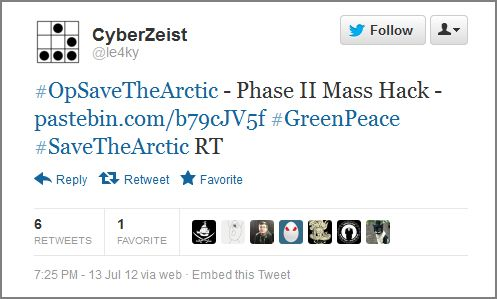 Anonymous Hacker Leaks Employee Email Accounts of Oil Companies to Support Greenpeace Campaign