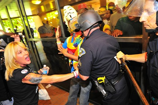 Nine Arrested in Protest Outside Anaheim Police Headquarters