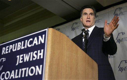 Romney Pursues Reliably Democratic Jewish Voters