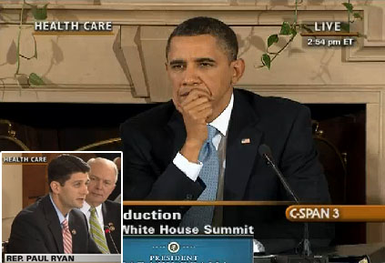 Obama's Glare at Paul Ryan and Bibi Netanyahu