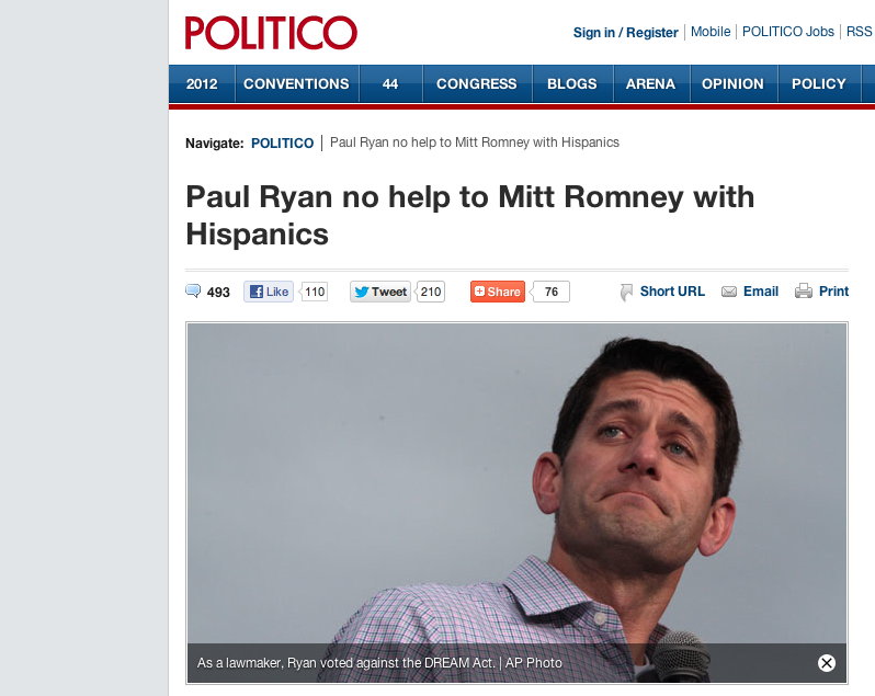 Politico's Full Court Press to Destroy Paul Ryan
