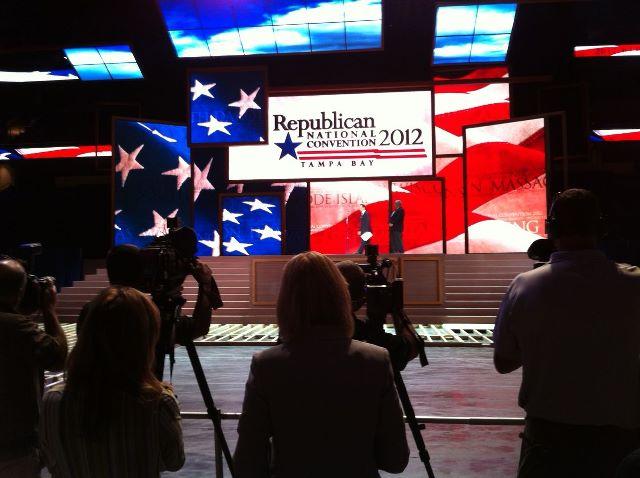 Sneak Peak: GOP Convention Stage Revealed