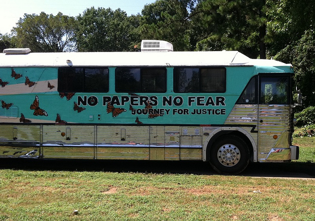 Illegal Immigrant 'Undocu-Bus' Rolls Into Charlotte For DNC