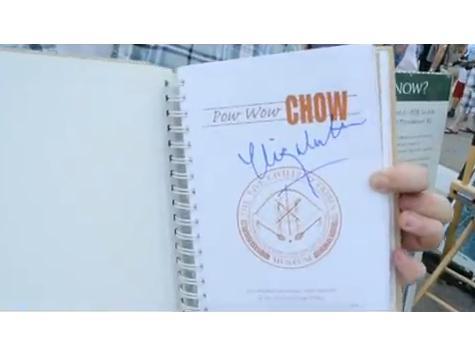 Elizabeth Warren Autographs Her Pow Wow Chow Plagiarism
