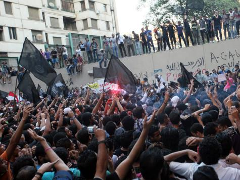 On 9-11 Egyptians Chant, Destroy American Embassy Flag