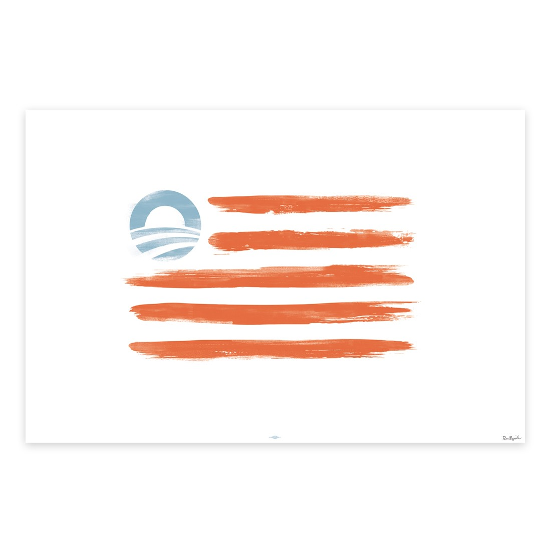 Obama Sells Posters Desecrating American Flag By Replacing Stars With Obama Logo