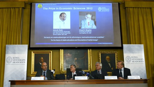 Two Americans Win Nobel Economics Prize