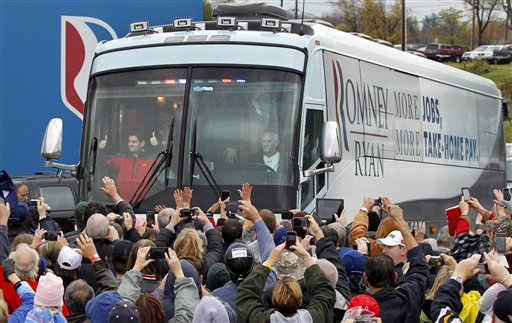 Leadership: Romney Uses Campaign Bus to Deliver Hurricane Relief