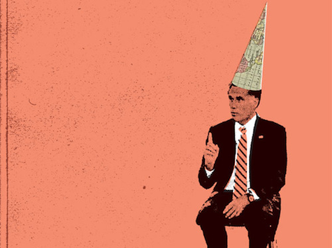 Desperate: Obama Campaign Features Romney In Dunce Cap