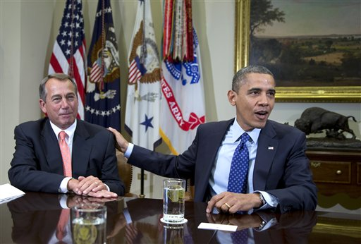 Obama, Boehner discuss 'fiscal cliff' stalemate