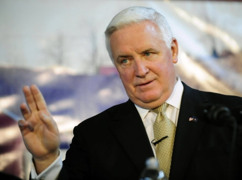 PA Gov. Corbett: Congress Cannot Avert Fiscal Cliff Without Tax Increases