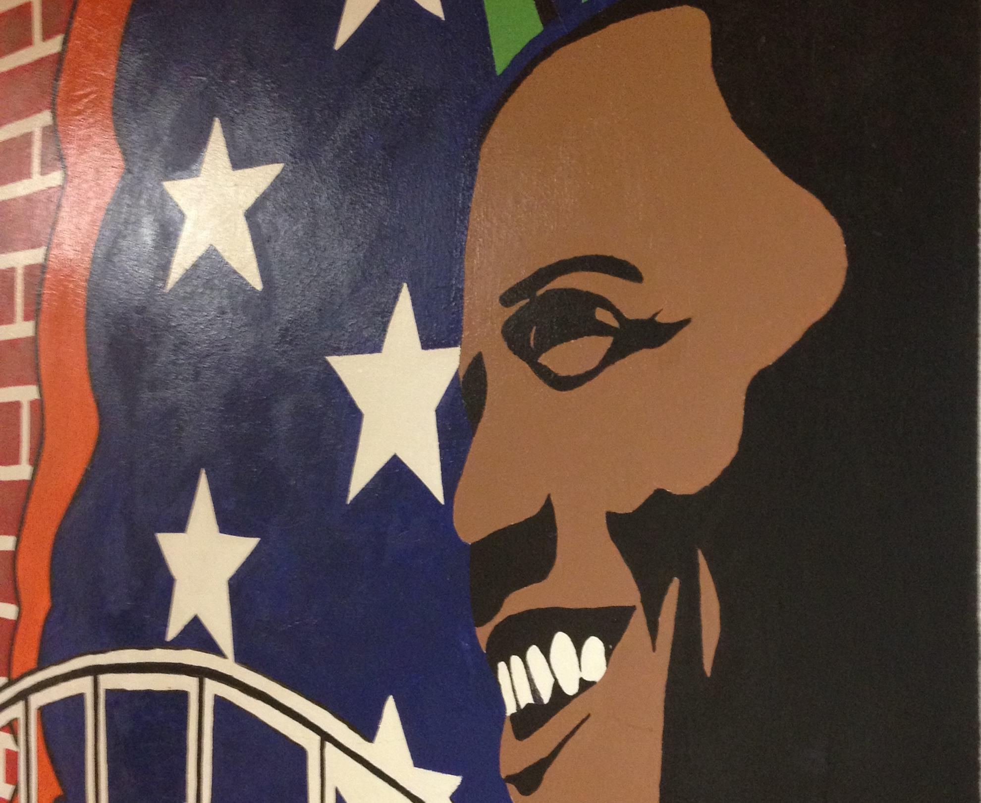 New York Public School displays Obama mural