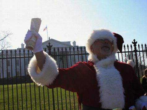 Liberal Santa Shows Up at Boehner's Office