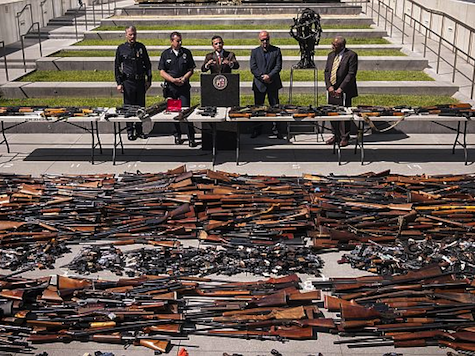 San Francisco And Oakland Crowds Hand Over Guns in Buyback