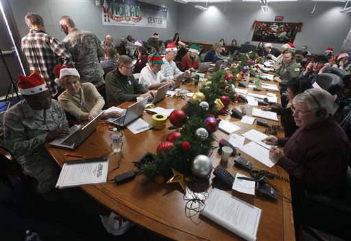 NORAD Says Record Number of Calls to Track Santa