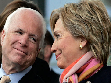 Friendship First: McCain Sparing Hillary Clinton from Harsh Libya Criticism