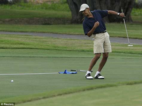 Golf, Not Drought, Brings Obama to California