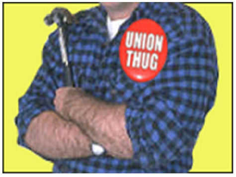 AFL-CIO Has 'Hug a Union Thug' Booth at DNC