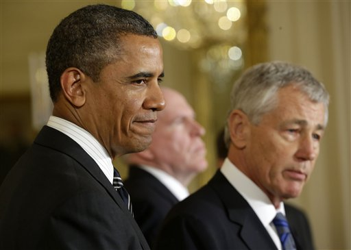 Obama Digs In for Fight on Hagel, Brennan Picks