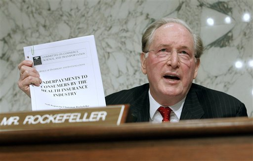 Senator Jay Rockefeller Won't Seek Reelection
