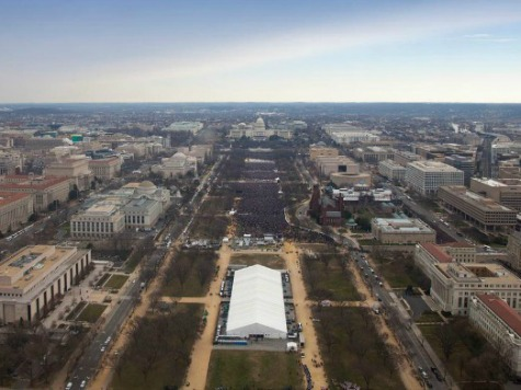 Aerial Photos: Thousands Fewer for Obama's Second Inauguration than First