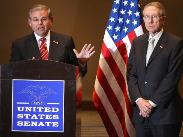 Reid Backs Away from Menendez Defense, Acknowledges Investigations