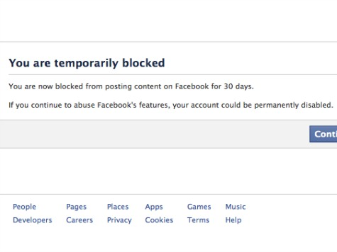 Facebook Temporarily Suspends Tea Party Mom