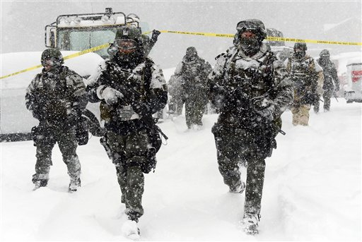 Hunt for Ex-Officer Continues Amid California Snowstorm