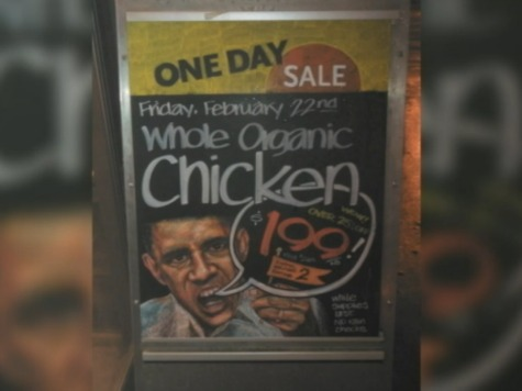 Whole Foods Apologizes for 'Racist' Sign Showing Obama Selling Chicken