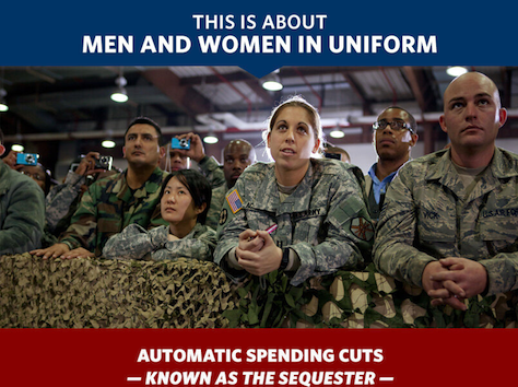 Fearmonger: Obama Says Sequestration Leaves Military 'Dangerously' Vulnerable
