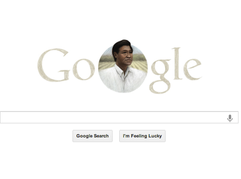 Update: Google Sticks with Chavez Logo All Easter Day