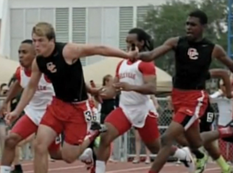 High School Track Team Disqualified When Runner Gestures Thanks to God