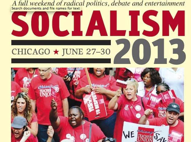 Chicago Teachers Union Graces Cover of Socialism 2013 Conference Program