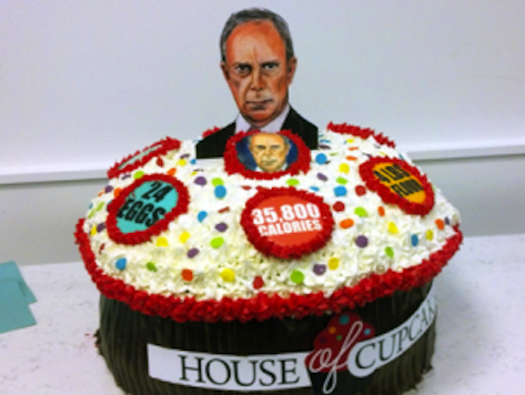 Rebel Baker Creates 36K Calorie Anti-Bloomberg Cupcake in NYC