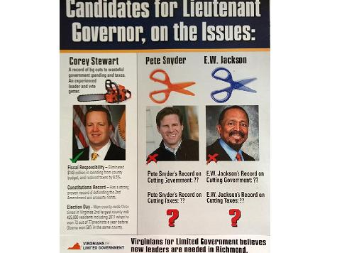 Another Pro-Stewart Mailer From Mysterious Group in VA GOP Race for Lt. Gov.