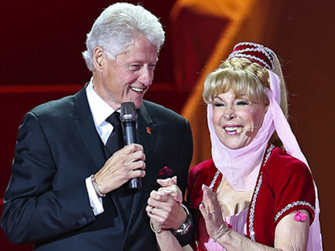 Bill Clinton Meets 'Jeannie'