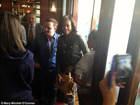 Michelle and Girls Lunch with Bono in Ireland