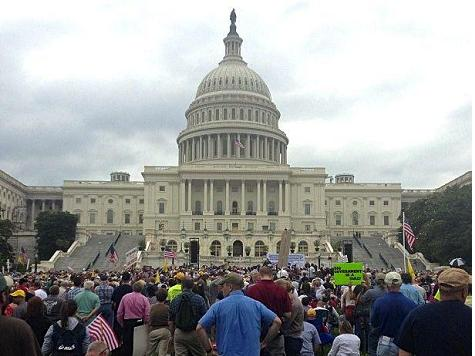 Tea Party Rally May Have Drawn Bigger Crowd than Obama Speech in Berlin