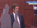 Zimmerman Defense Displays Life-Size Cutouts of Trayvon, Zimmerman
