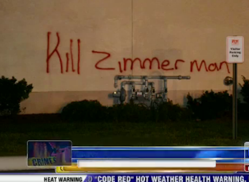 PA Business Graffitied with 'Kill Zimmerman,' Set on Fire