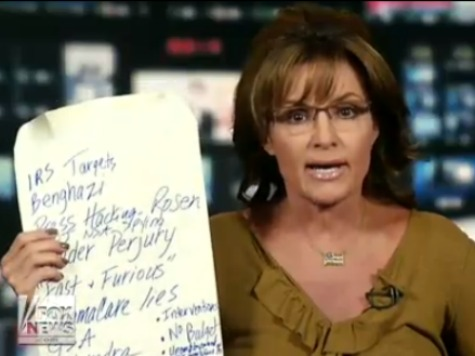 Palin Contrasts Herself with 'Elitist' Rove by Using 'Redneck' Whiteboard