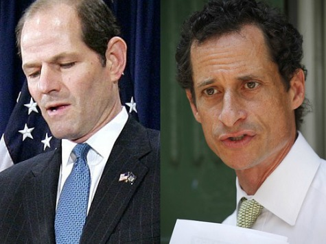 Spitzer Knocks Weiner for Being a Bad Husband