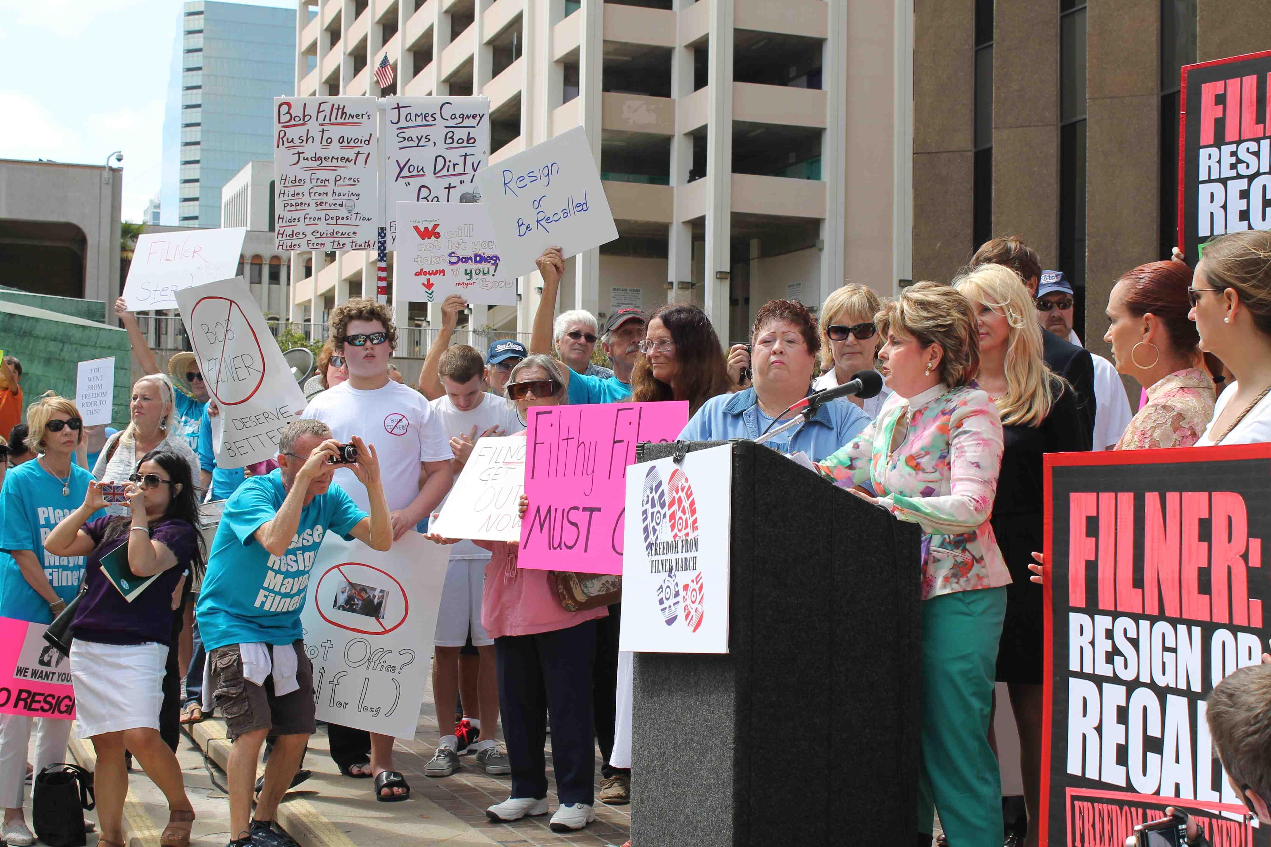 Hundreds March to Recall San Diego's Mayor Filner