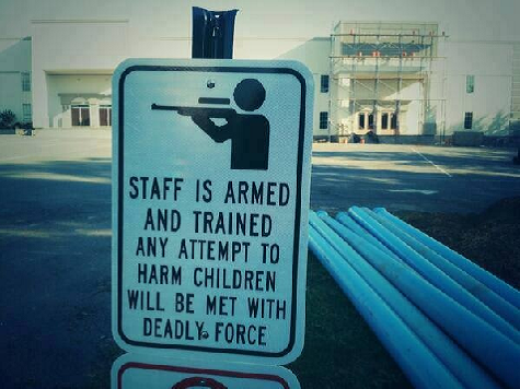 Sign at Private School in Arkansas: 'Staff Is Armed and Trained'