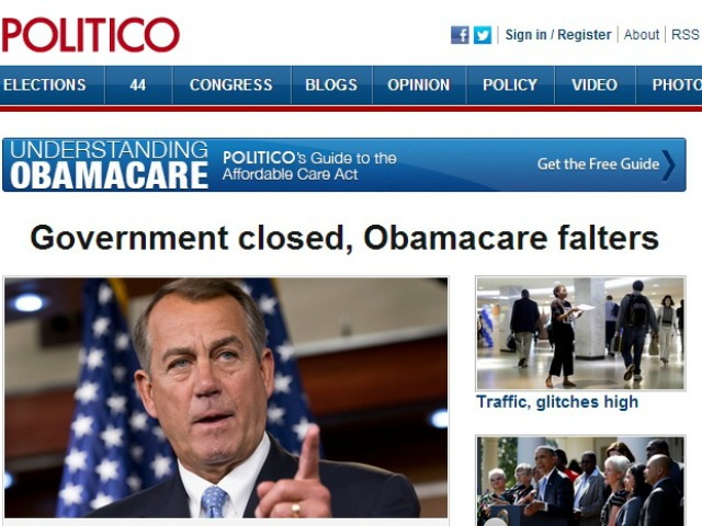 Narrative Fail: Media Forced to Acknowledge Obamacare Failures on Shutdown Day
