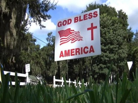 Florida City Demands Residents Take Down 'God Bless America' Signs