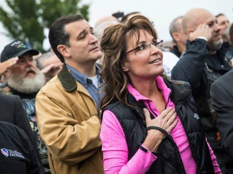 Palin, Lee, Cruz Rally Veterans at WWII Memorial