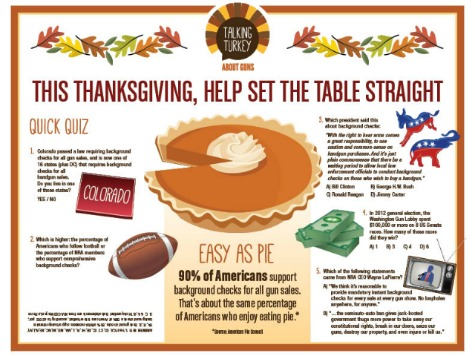Bloomberg's Mayors Group Gives Kids Gun Control Placemats for Thanksgiving
