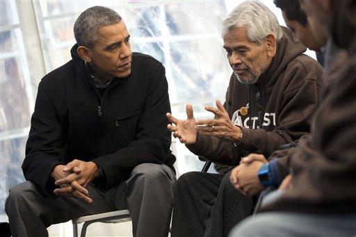 Obama Visits Activists Fasting for Immigration